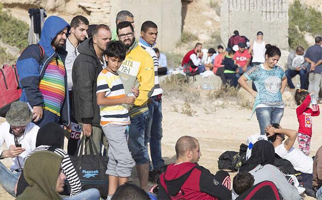 Беженцы на острове