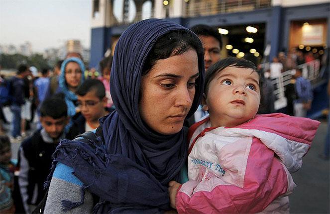Беженцы на улицах Турции