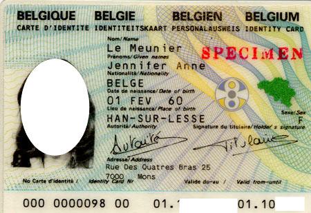 удостоверение бельгийца