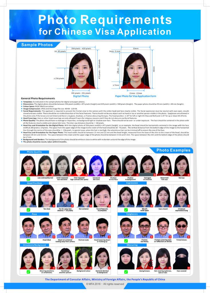 Рекомендации к фото на визу