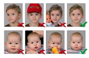 Детские фото на визу